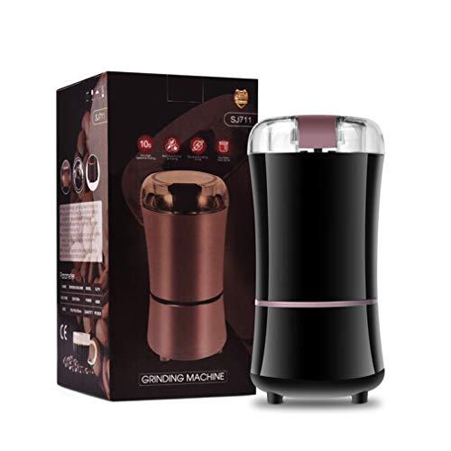 Elektrische Kaffemühle Elektrische Kaffeebohnenpulvermaschine 150W Edelstahl Kaffeemühle 50g...
