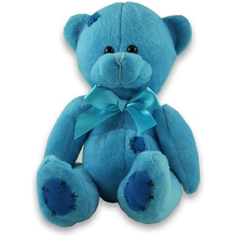Osito de peluche suave, color azul