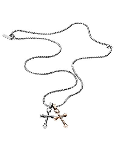 Police Gemini Mens Necklace PJ25524PSSRG-01