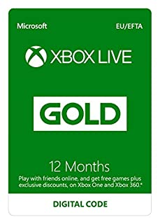 Xbox Live 12 Month Gold Membership | Xbox One/360 | Xbox Live