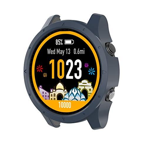 Amalls für Garmin Forerunner 945 Uhr Intelligent Uhr Smart Watch Ersatz Gehäuseabdeckung Schale Silikonrahmen PC-Schutzhülle (Marine) - Garmin 20 Marine