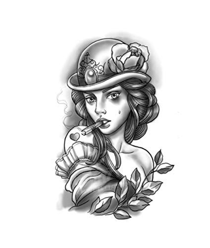 WSFST Wasserdichter Tattoo-Aufkleber Persönlichkeit Wasserdicht Weibliche Blume Arm Tattoo Sticker 10 Tattoo-Set