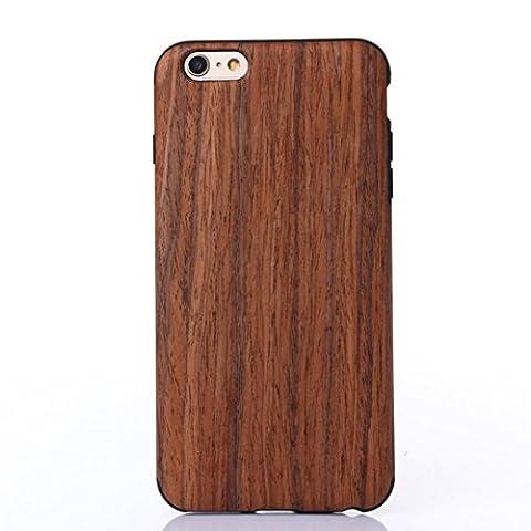 Bluestercool Pour iPhone 6s 4.7inch cas naturel bois en bois couvrir Protéger modèle Marron