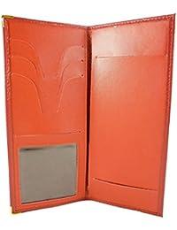 Etui Pochette protection Porte chéquier (talon côté) croute de cuir