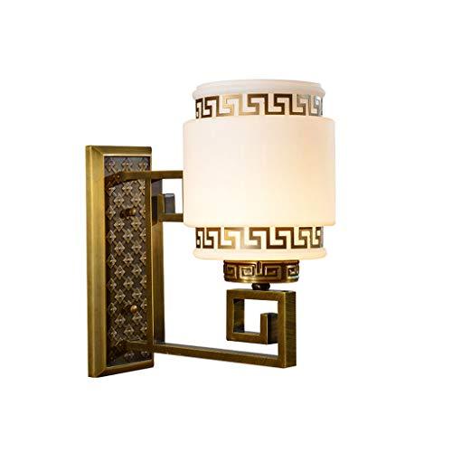 NJ Wandlampe- Vintage geschnitzte Wandleuchte Nachahmung Marmor Glas Schlafzimmer Nachtwandleuchte (größe : 13x30cm)