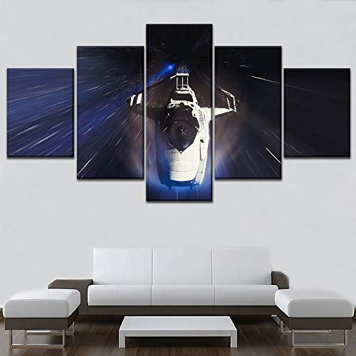 LAKHAFZY Telaio Modern Artwork Living Room Bedroom Home Decor Parete  Spacecraft Pittura Tela Stampa 5 Pezzi Gioco Star Citizen Poster