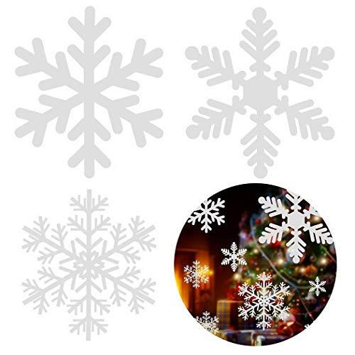ysmklo Iloits Sticker Mural Amovible Motif Flocon de Neige Blanc