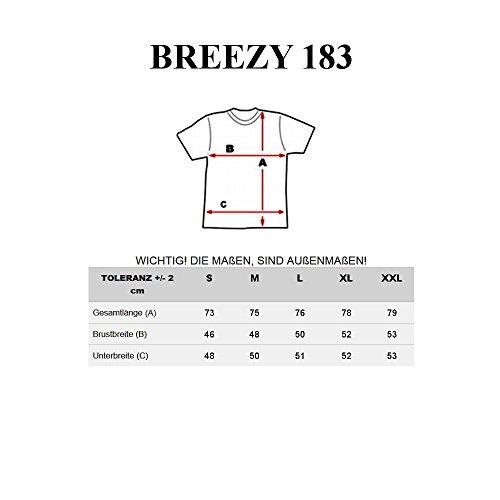 BOLF Herren T-Shirt Tee Kurzarm Rundhals Slim Fit Print Classic Party 3C3 Motiv Schwarz