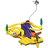 Mahalaxmi NTrack Racer Set With 4 Miniature Cars Rotating Helicopter And Thrilling Sound