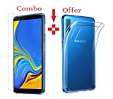 #9: Azzil Tempered Glass & Back Cover Premium Quality Soft -Combo Transparent- Perfect Fit Case Cover for Samsung Galaxy A7 2018