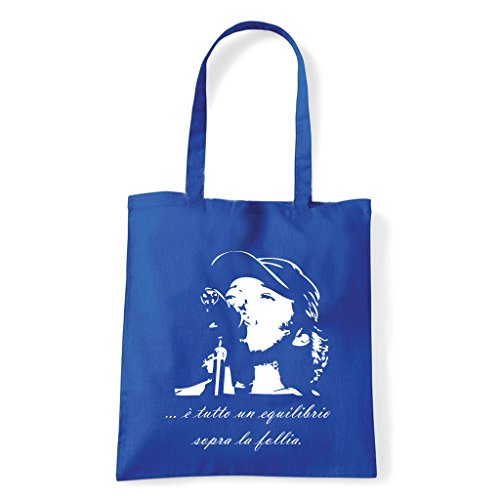 Art T-shirt, Borsa Shoulder Vasco Rossi Brivido Follia Blu