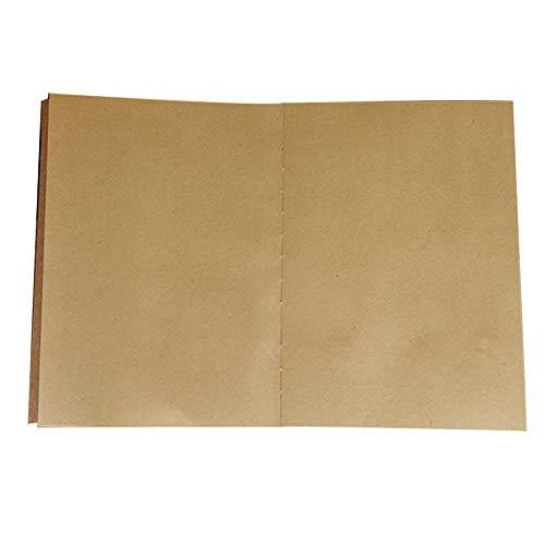 LINKLANK Cahier Vierge Sketchbook Kraft sans Bois Sketch Vierge Papier Carnet Blanc/Blank Notebook Sketchbook avec Papier épais Premium - Diviseurs Cadeaux