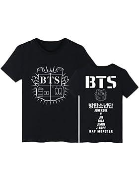 EmilyLe Unisex Carta de Manga Corta Impresa T-Shirt Bangtan Boys BTS Portada del álbum KPOP Fans Tops