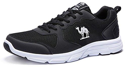 CAMEL Herren Sportschuhe Laufschuhe Sneaker Atmungsaktiv Leichte Traillaufschuhe (40 EU=6.5 UK=Fußlänge 25cm, Black)
