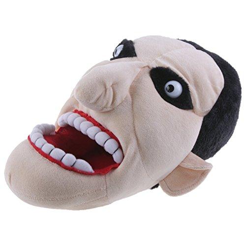 Hausschuhe Lustige Plüsch (SAMs Graf Dracula Hausschuhe Pantoffel Puschen Schlappen Kuscheltier Plüsch Herren Schwarz 36-45, TH-Graf, Größe 42/43)
