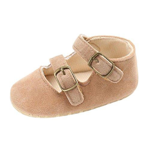BZLine® Baby jungen Mädchen Krippe weiche Sohle Schuhe Sneakers Khaki