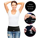 Limber Stretch Travel Money Belt Unisex, Running Belt, Hiking Fashion Waist Pack with Key Clip | Large Sweatproof Security Pocket Fits all iPhones,Passports, Insulin Pump | Extra Wide Spandex
