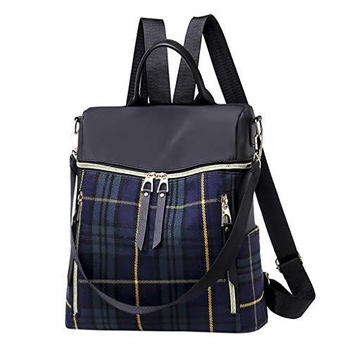 Anti Diebstahl Damen Rucksack Handtasche, Wasserdichte Nylon Schultaschen, Oxford Umhängetasche Multifunktions Schultaschen, Tagesrucksack Daypacks Schultertasche Umhängentasche Tasche (Blau) -