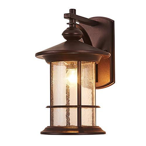 Hdmy Farol de Pared Exterior Lámpara de Pared de Patio Exterior Impermeable Balcón Minimalista Estadounidense...