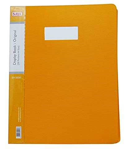 Fournitures Display Book 20 poches A4 Paper Folder document Sheet Protector Pack Office 5