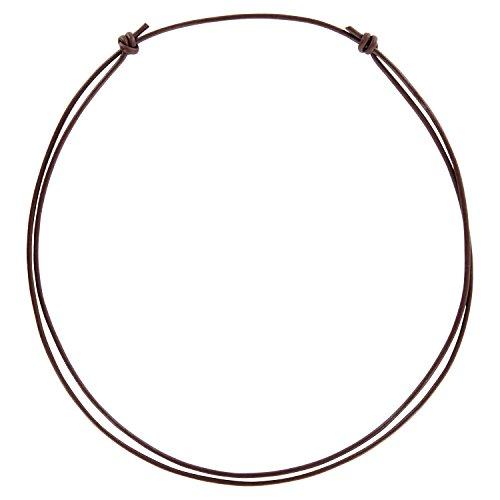 Auroris Echtleder Kette 2 mm mit verstellbarem Knotenverschluss Farbe wählbar - Variante: braun