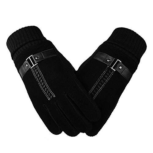 Yvelands Gant Homme Simili Cuir En Plein Air Protection Contre Le Froid Coupe-Vent ÉCran Tactile Gants De Cyclisme Gloves (A,One Size)
