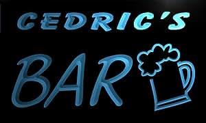 Enseigne Lumineuse pv388-b Cedric's Bar Beer Mug Glass Pub Neon Light Sign