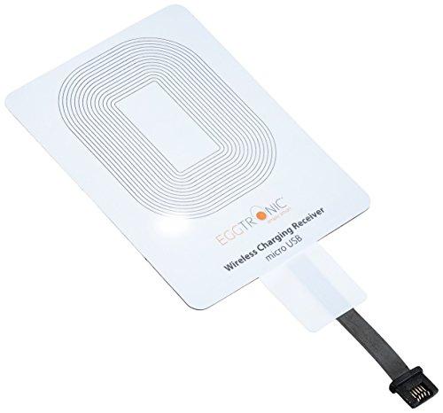 Eggtronic® Universal-Ladeempfänger für drahtlose Induktionsladegeräte (Qi), mit Micro-USB-Anschluss Micro-USB (Front)