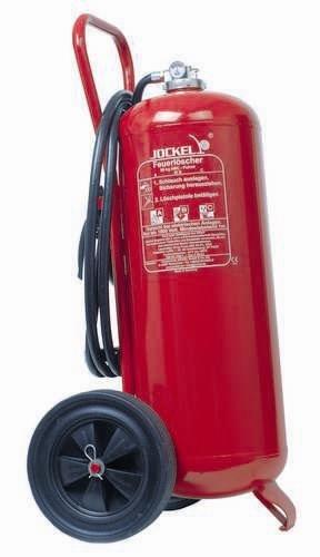 Preisvergleich Produktbild Jockel Feuerloescher P50AJ Dauerdruck- Löschwagen 50 kg ABC Pulver