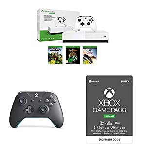 Xbox One S 1TB – All Digital Edition [Konsole ohne optisches Laufwerk] + Xbox Game Pass Ultimate 3 Monate + Xbox Wireless Controller