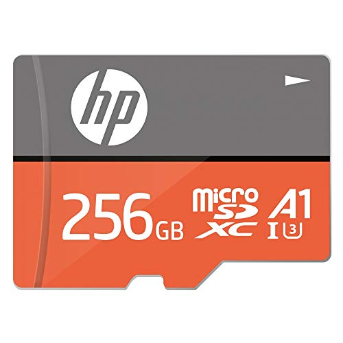 HP MicroSD Card U3, A1 256 GB  High Speed (Write Speed 85MB/s & Read Speed 100 MB/s Records 4K UHD and Fill HD Video)