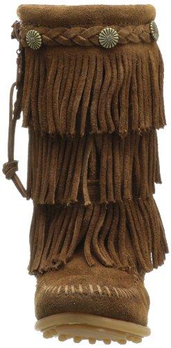Minnetonka Kinder Wildleder Mokassin Fransenstiefe brown