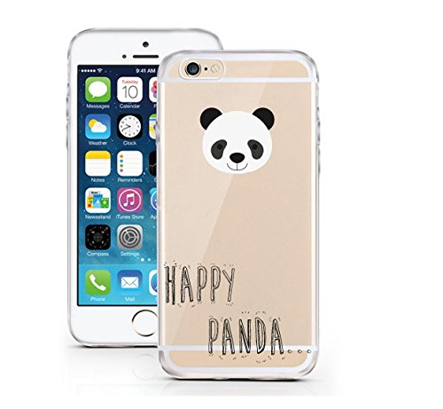 "licaso® iPhone 6 6S 4,7"" TPU Tierchen Panda Hülle Sketch Unicorn Case transparent klare Schutzhülle Disney Hülle iphone6 Tasche Cover (iPhone 6 6S 4,7"", Tierchen Panda) Tierchen Panda"