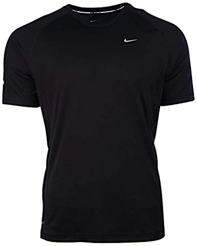 Nike Mens Dri-Fit Miler UV Short Sleeve Running