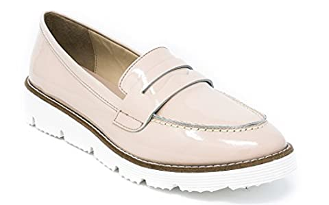 BOBERCK Val Collection Women's Slip-on Loafer (6 US, Beige)