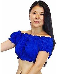 Bailarina del vientre Tribal Choli Top Costume UK TAMAÑO 10/12 - 16, M L