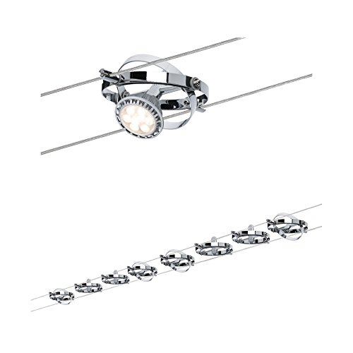 Paulmann 941.53 Wire System Cardan max 8x10W GU5,3 dimmbar Metall Seilsystem Seilleuchte Seillampe LED 94153