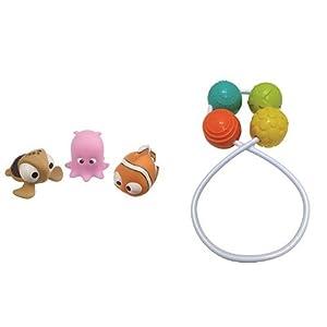 Tigex 80890881 - Set de 3 Animalitos de Nemo + Tigex 80890920 - Sonajero de Bolas