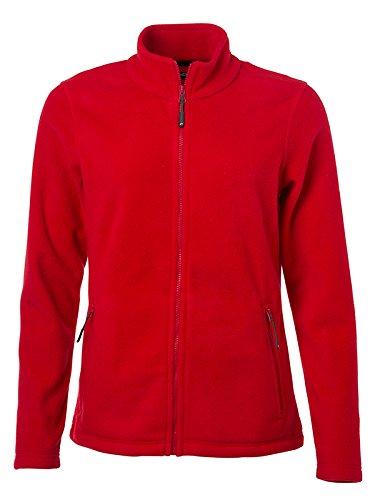 James & Nicholson Damen Fleece Jacke Rot (Red) 44 (Herstellergröße: 3XL) -