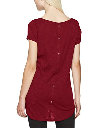 Only Onlcasa S/s Button Top Jrs Noos, T-Shirt Femme Rouge (Rhododendron)