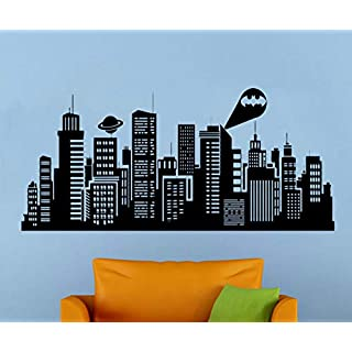 zhuziji Gotham City Wall Decal s Vinyl Aufkleber Kinderzimmer Home Art 138x63cm