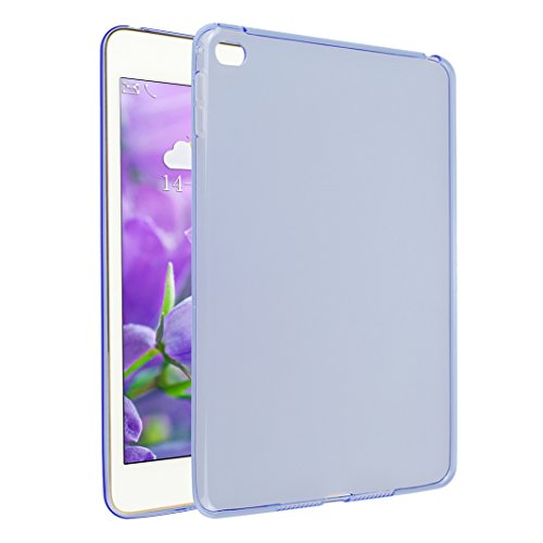 iPad Mini 4 Hülle, Asnlove TPU Schutzhülle Tasche Case Cover Kratzfest Weich Flexibel Silikon Bumper in Matt Crystal Transparent Tablet Schutzhülle für Apple iPad Mini 4 7.9 Inch 2015 Model, Blau