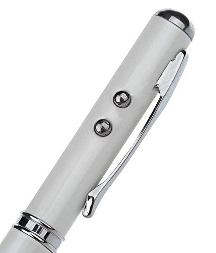 DMG Laser Torch Stylus Pen For Mobiles/Tablets/Ipads/Iphones (Silver)