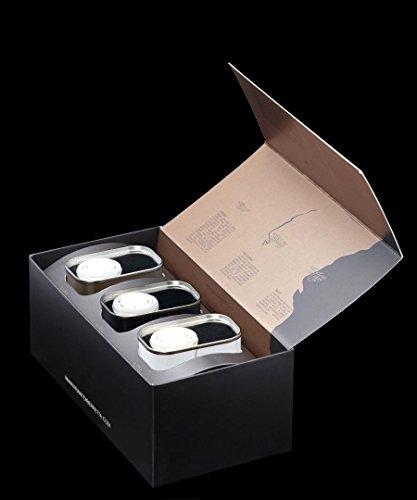 Frantoi berretta olio extravergine di oliva siciliano, scatolina regalo tris lattine 3x175ml soprano-terra-sottano