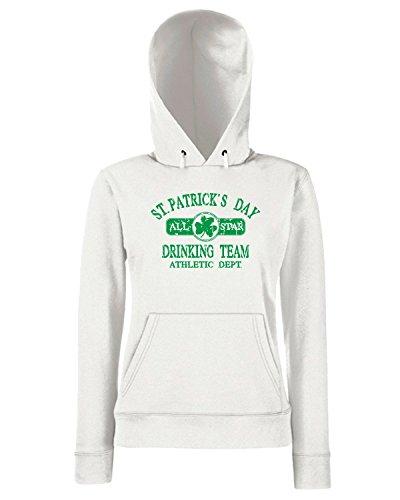 T-Shirtshock - Sweats a capuche Femme T0460 san patrizio festivita Blanc