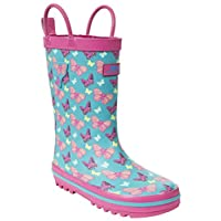 Trespass Butterflie, Girls Wellington Boots, multicolour (Marine Print), 2 (34 EU)