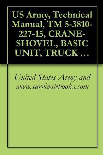 US Army, Technical Manual, TM 5-3810-227-15, CRANE-SHOVEL, BASIC UNIT, TRUCK MOUNTED: 20 3/4 CU YD, GASOLINE ENGINE, 6X6 (AMERICAN HOIST AND DERRICK MOD ... {TO 36C23-3-39-1} (English Edition) -