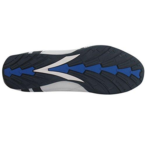 LONSDALE CHAUSSURES HOMMES Chaussures de sport chaussures de Course Baskets Baskets Camden slip blanc/bleu marine