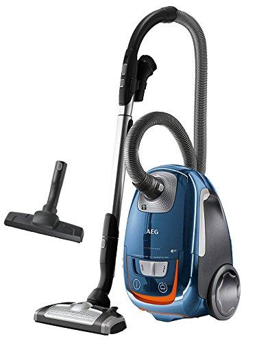 AEG UltraSilencer USENERGY + 61db–Aspiradora con bolsa, eficiencia energética A (700W, boquilla para suelo AeroPro Silent, incluye boquilla para suelo duro, 12m Radio de Acción, filtro lavable higiene E12) Aspiradora Azul