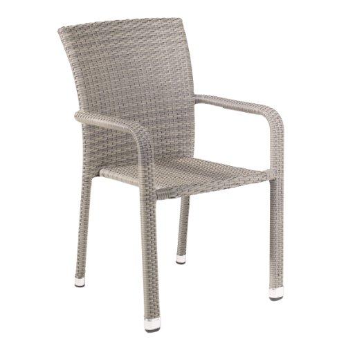 greemotion Stapelstuhl Manila grau bicolor, Sitzmöglichkeit für In- und Outdoor, platzsparender...